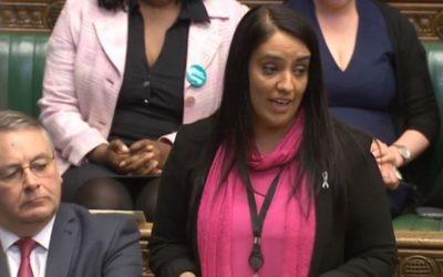 Naz Shah speaking in parliament