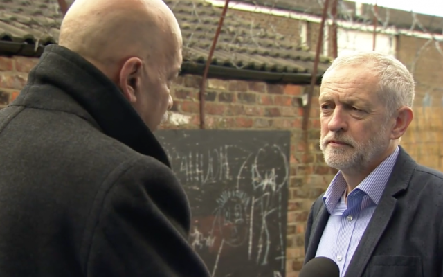 The Labour Leader denying there was any crisis within the Labour Party on the BBC