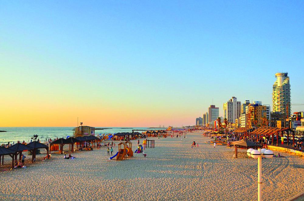 The Tel Aviv beach