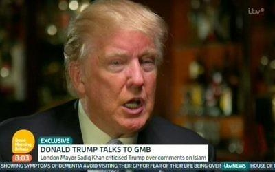 Donald Trump on ITV this morning.