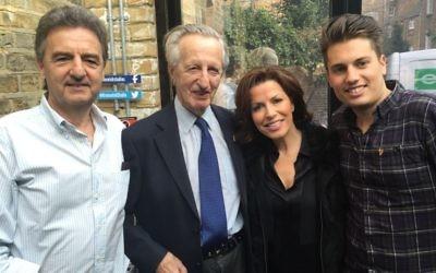 Kurt Taussig (second left) with his son Richard, grandson Matthew and BBC presenter and UK Holocaust Memorial Foundation board member Natasha Kaplinski.