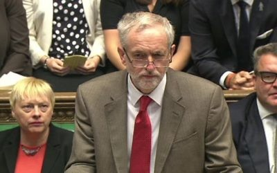 Jeremy Corbyn classed with the Prime Minister over his Hamas 'friends'.