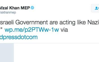 Afzal Khan MEP's tweet