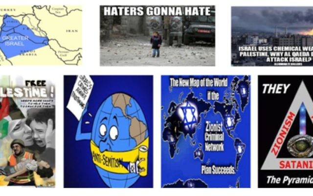 Vitriolic hatred on social media promoting material with often with anti-Semitic undertones