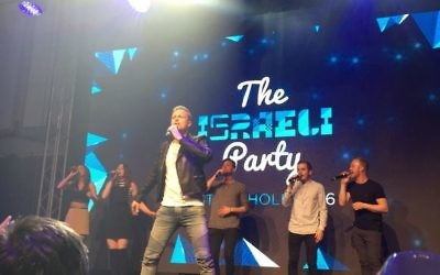 Nicky Byrne of Westlife fame, but now representing Ireland, opened the live performances at the Israel Party.