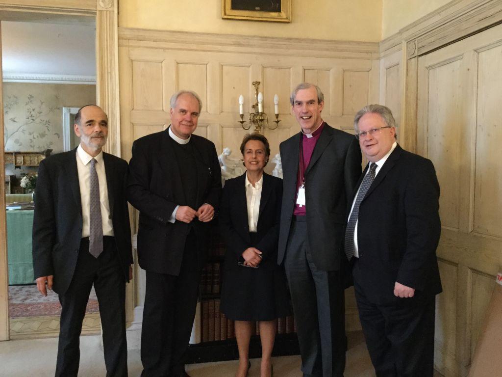 Rabbi Wittenberg, Bishop Newcome, Mehri Niknam, Canon Wright and Rabbi Rich