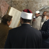 Signing the book of remembrance
