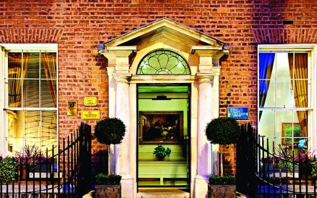 The elegant entrance to the Merrion Hotel shows its Georgian origins