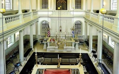 The interior of the Touro Synagogue