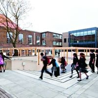 A school courtyard