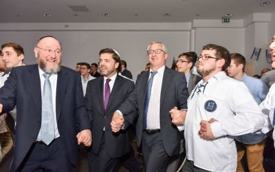 The Chief Rabbi took to the dancefloor with Tory minister Stephen Crabb
