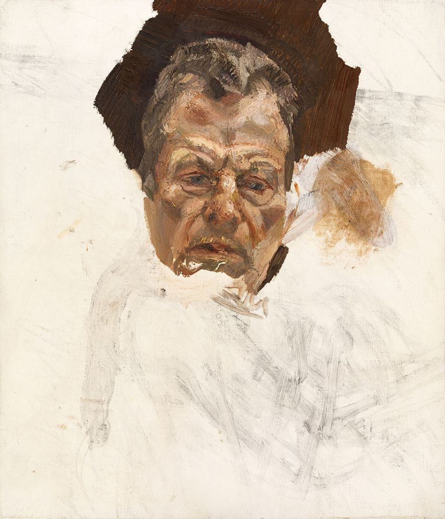 Undated handout photo issued by the National Portrait Gallery of a previously unseen self-portrait by Lucian Freud, which is to go on display at the gallery as one of a selection of drawings from Freud's unseen sketchbooks. (Photo credit: NPG/PA Wire)