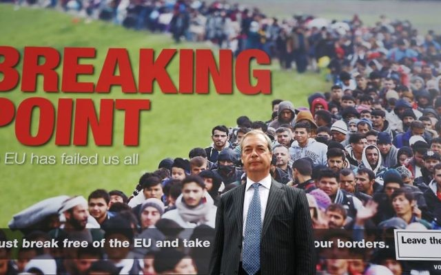 The controversial poster drew huge amount of criticism, for allegedly stirring up fear and hatred