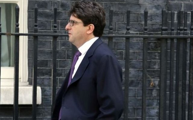 Conservative Party chairman Lord Feldman arrives at Downing Street, London, earlier this morning