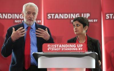 Jeremy Corbyn with Shami Chakrabarti