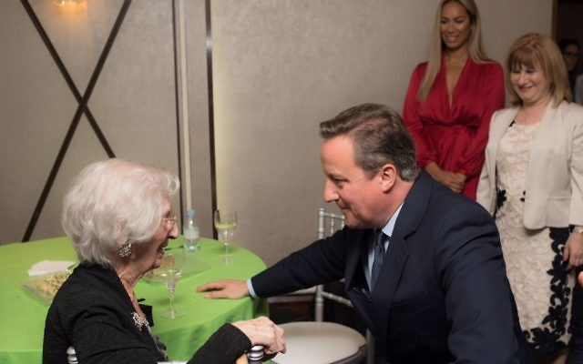 Prime Minister meets Jewish Care's Stepney Community Centre member, Amelia Finger, or Milly who is 99. Milly lives in the East End and relies on the Jewish Care mini bus to take her to the Centre. If Milly didn't go to the Centre she wouldn't see anyone or have anywhere to go. (Credit: Blake Ezra Photography)