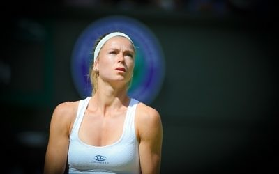 Camila Giorgi suffered a first round exit on Centre Court. Picture: Marc Morris