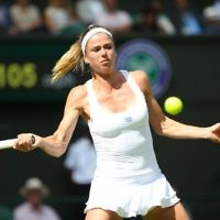 Camila Giorgi was knocked out of Wimbledon on Friday afternoon