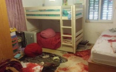 The 13-year old girl's blood-stained bedroom (Danny Ayalon on Twitter @DannyAyalon)