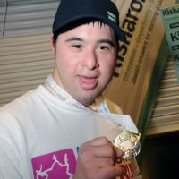 Eli Cohen did the 5km run for Kisharon (photo: John Rifkin)