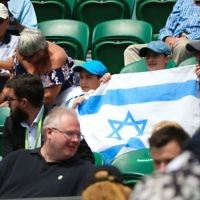 Israel fans in the Wimbledon crowd