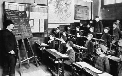 Hebrew Class, 1908 (credit - Jewish Museum)