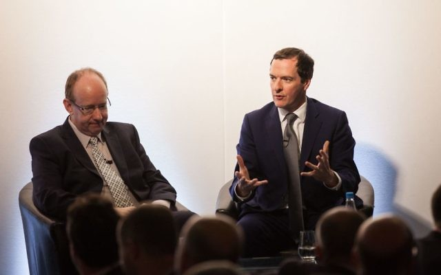 George Osborne in conversation with Lord Daniel Finkelstein (Photo credit: Andy Tyler Photography)