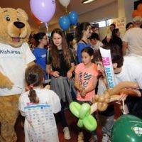 Kisharon bear was popular with the children. (photo: John Rifkin)