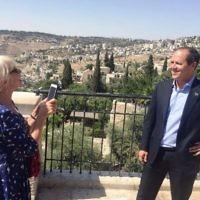 Dame Helen Mirren overlooking Jerusalem