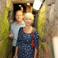 Dame Helen Mirren touring the City of David