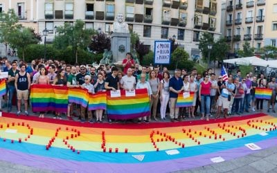 Vigil in memory of the victims of the Orlando attack.