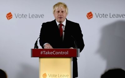 Boris Johnson reacts to the UK's decision to leave the EU.
