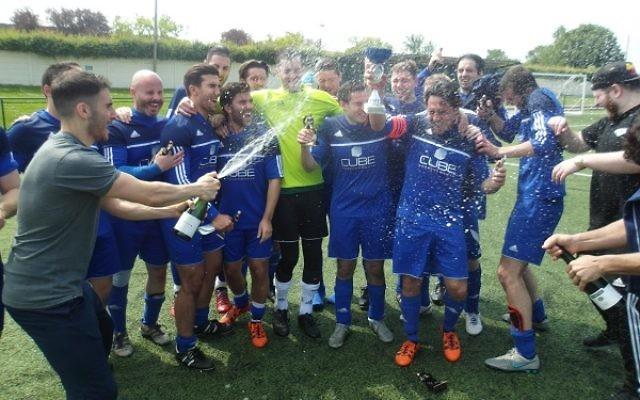 Redbridge B celebrate their win
