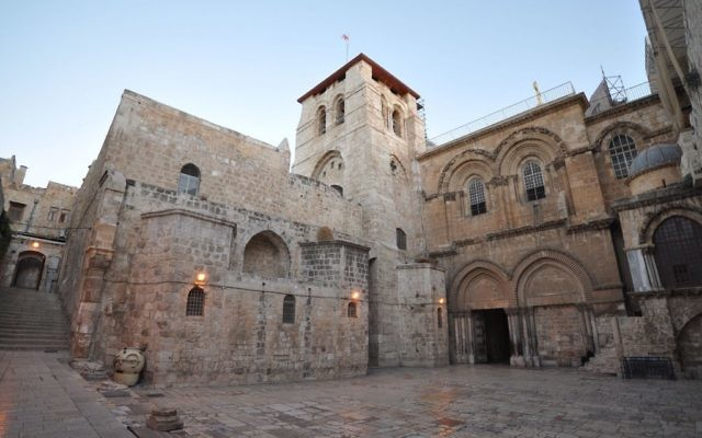 The Church of the Holy Sepulchre is within the Christian Quarter of the walled Old City of Jerusalem.