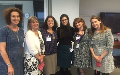 Left to right: Gillian Merron, Laura Marks, Meryl Folb, Rebecca Usden, Claudia Bookey and Leah Warren