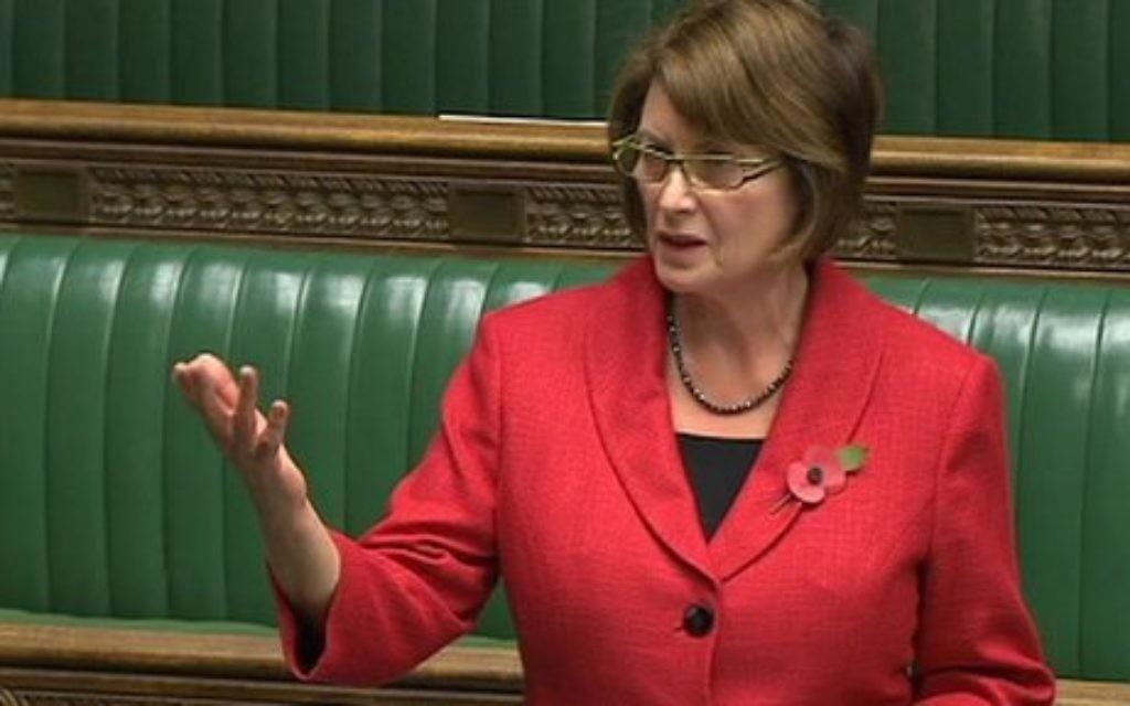 Louise Ellman speaking in parliament.