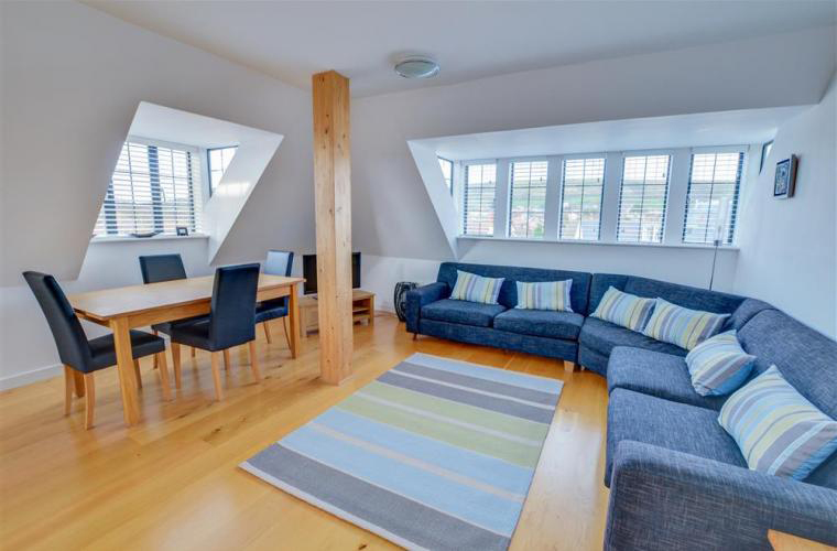 Inside the two bedroom apartment