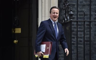 David Cameron leaving Downing Street to attend his final PMQ's as the leader of the country