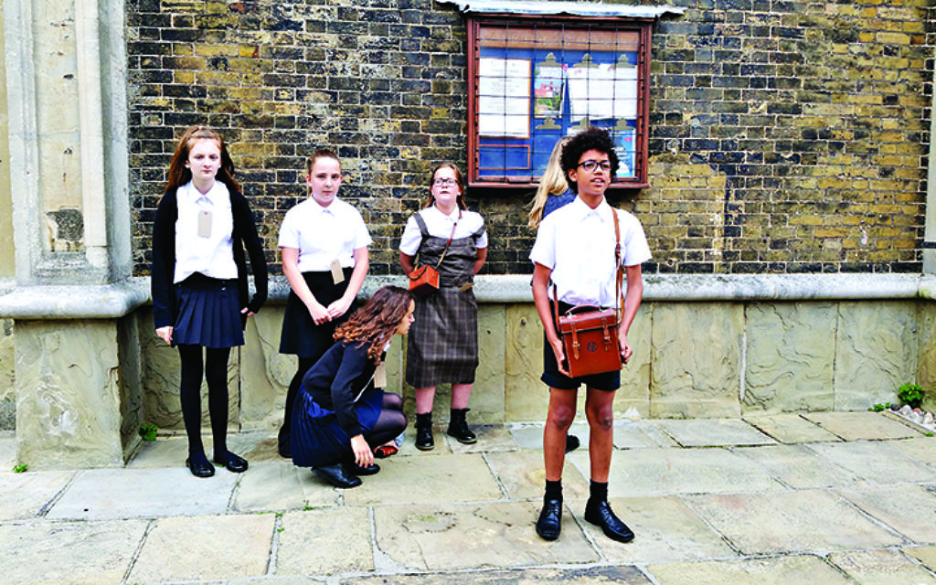 Children from Harwich and Dovercourt High School enact experiences of Kinder