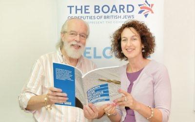 Clive Lawton with Board of Deputies Chief Executive Gillian Merron