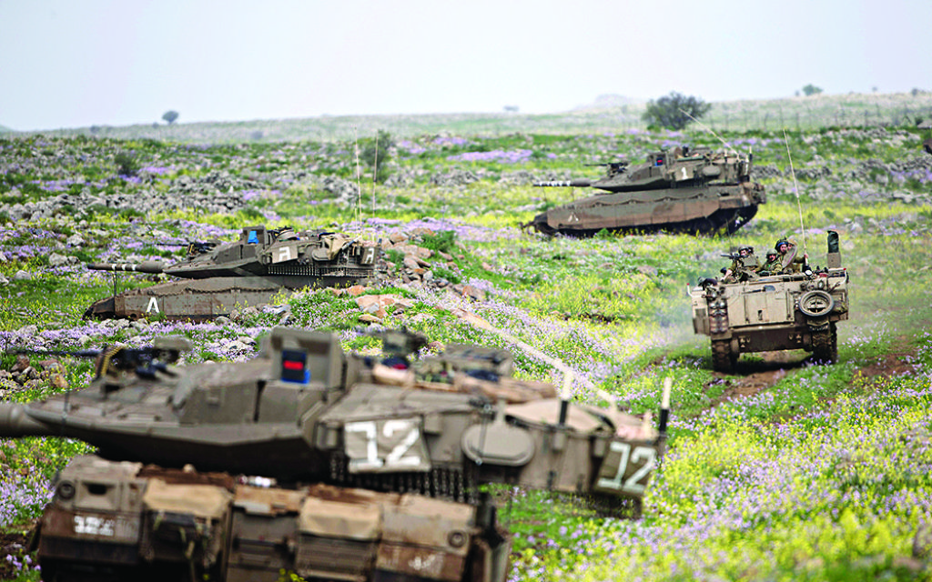 Israeli tanks in the Goland Heights