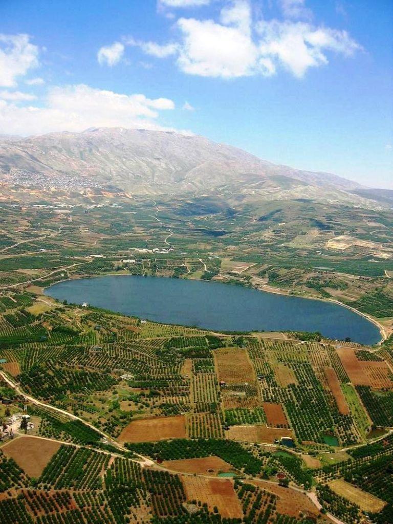 Lake Ram near Mount Hermon, in the northeastern Golan Heights