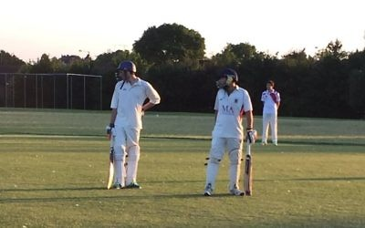 Belmont batsmen, Joel Freedman and captain Elliott Mayer