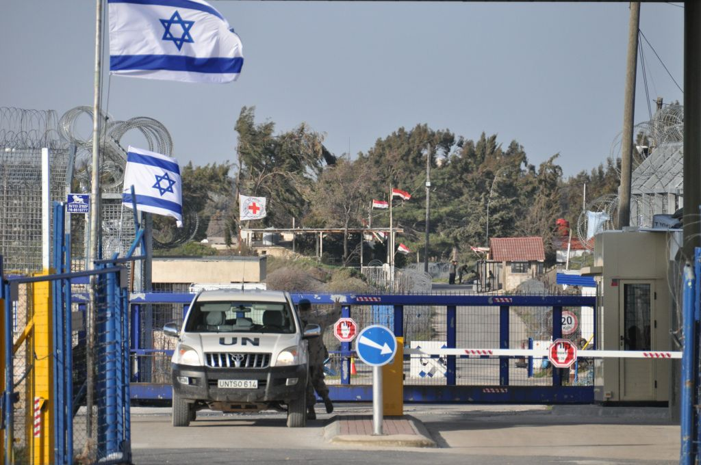 UN controlled border crossing point between Syria and Israel at the Golan Hights