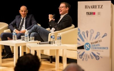 Jonathan Freedland of the Guardian and Aluf Benn inaugurated the conference, paying tribute to David Landau