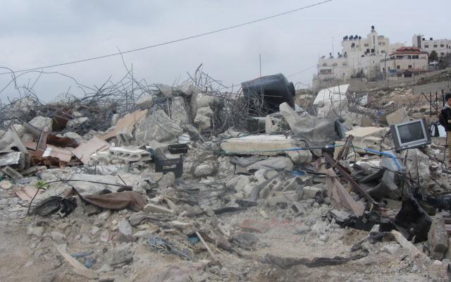 A demolished house in East Jerusalem