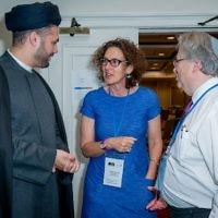 Imam Sayed Razawi, Gillian Merron and Rabbi Danny Rich