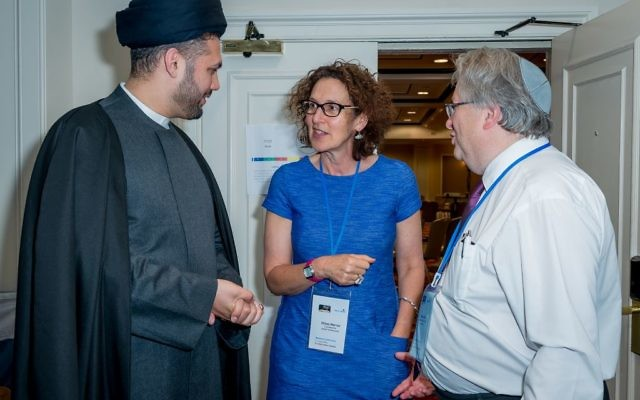 Imam Sayed Razawi, Gillian Merron and Rabbi Danny Rich