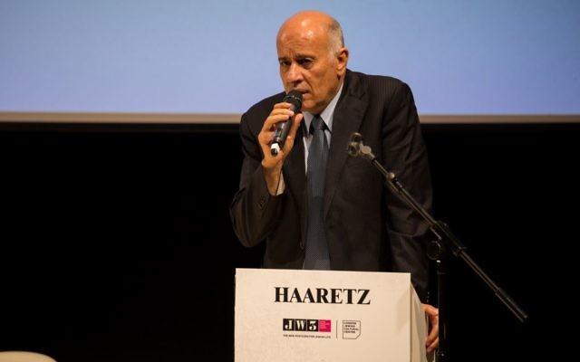 Jibril Rajoub speaking during his keynote