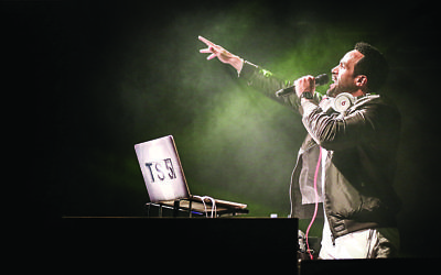 The grime star performing at this year's Glastonbury Festival  (Photos by Nicky Kelvin Photography)